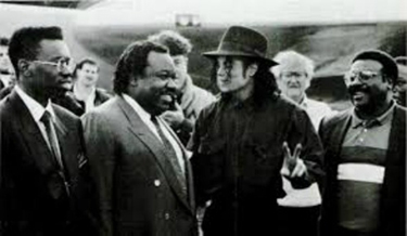 Charles Bobbit with Michael Jackson